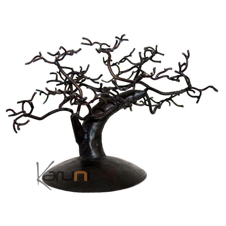 arbre bijoux porte bijoux design c dre 30 40 cm m tal recycl baobab madagascar. Black Bedroom Furniture Sets. Home Design Ideas