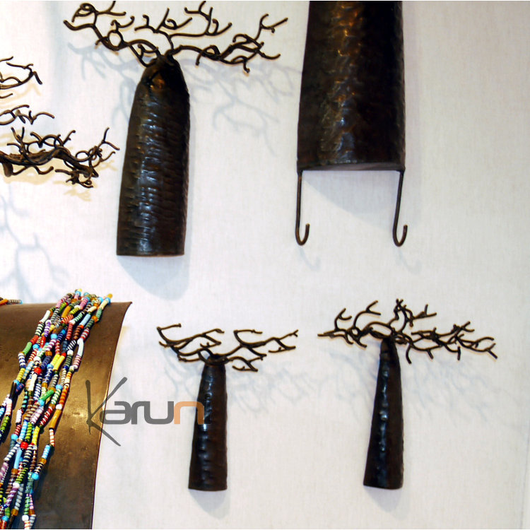 arbre bijoux porte bijoux mural baobab 20 25 cm m tal. Black Bedroom Furniture Sets. Home Design Ideas