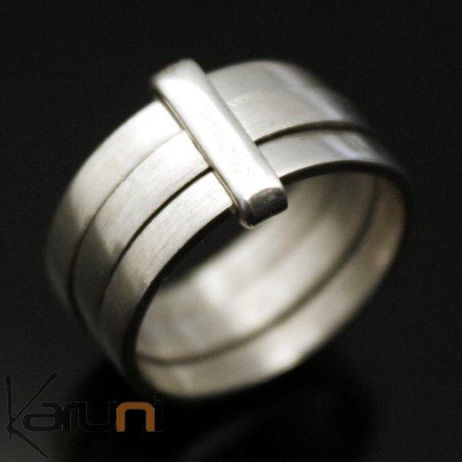 bijoux ethniques touareg bague alliance anneau en argent homme femme 03 3 anneaux lisse. Black Bedroom Furniture Sets. Home Design Ideas
