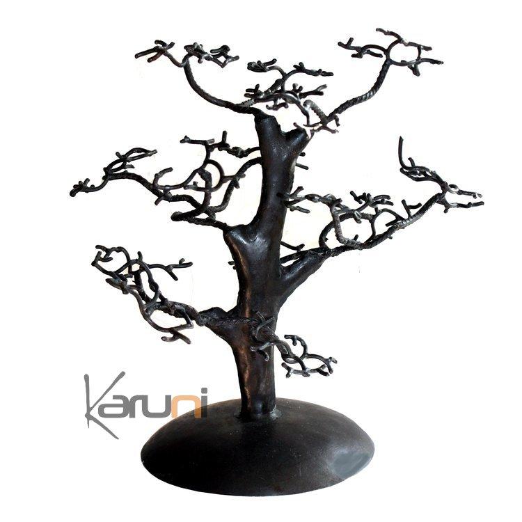 arbre bijoux porte bijoux design c dre droit 30 cm m tal recycl baobab madagascar. Black Bedroom Furniture Sets. Home Design Ideas