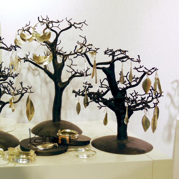 Arbre bijoux porte bijoux design c dre droit 40 cm m tal - Arbre porte bijoux ...