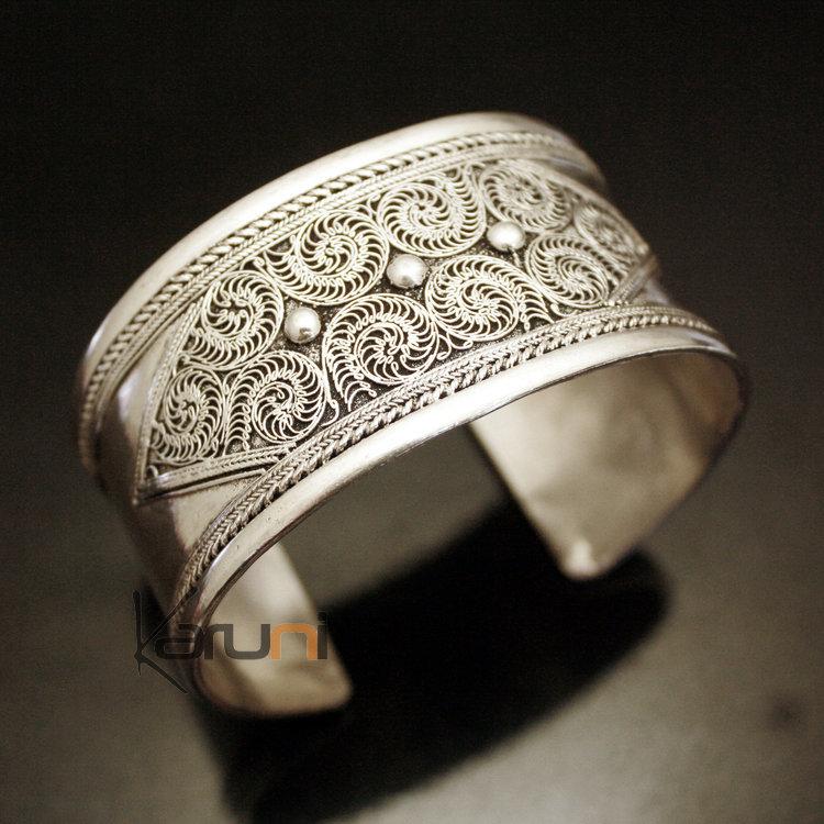 Bijoux Ethniques Indiens Bracelet Manchette en Argent Mix Nepal 06  Filigranes