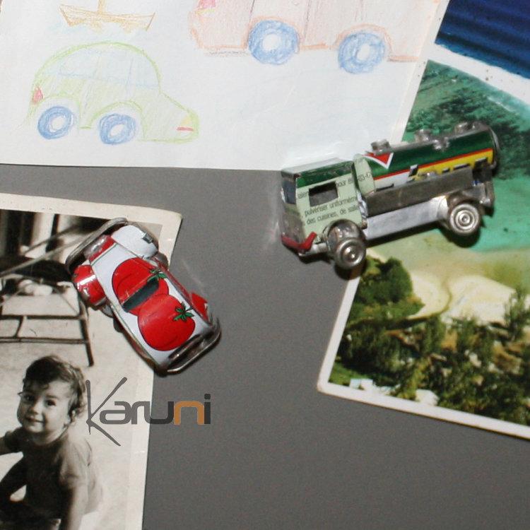 magnet voiture camion citerne frigo aimant canette recycl e madagascar lot de 5. Black Bedroom Furniture Sets. Home Design Ideas