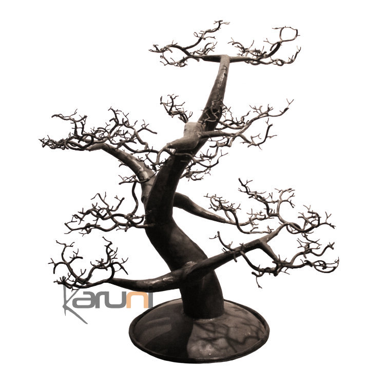 arbre bijoux porte bijoux design c dre 60 cm m tal recycl baobab madagascar. Black Bedroom Furniture Sets. Home Design Ideas