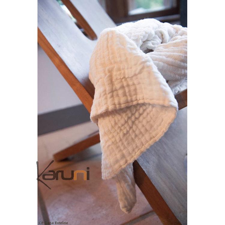 plaid jet de canap en coton tiss d 39 ethiopie gabi blanc dana esteline. Black Bedroom Furniture Sets. Home Design Ideas