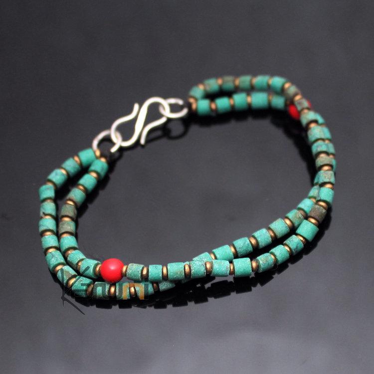 Bijoux Ethnique Argent Turquoise : Bracelet homme argent et turquoise