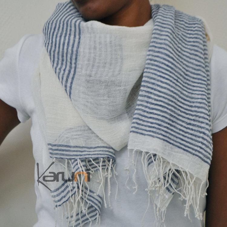 Echarpe femme coton grande echarpe plaid   Arts4a b541f1b2608