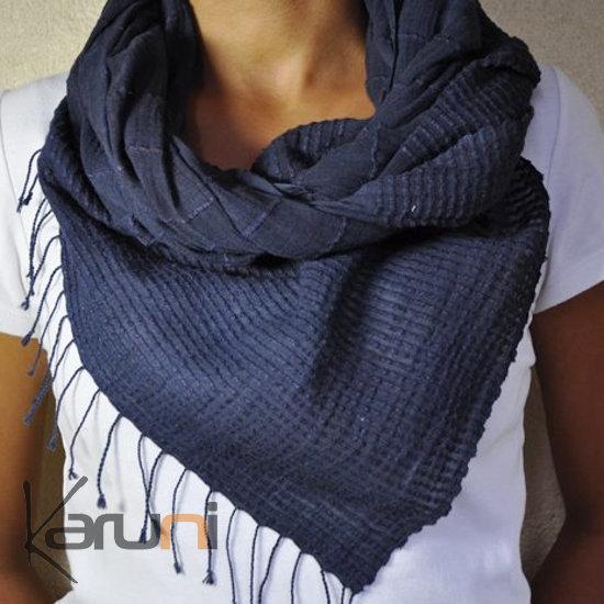 6dade29d594f Echarpe femme bleu tricoter une écharpe   Zebux