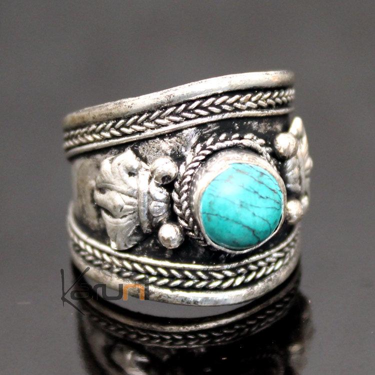 Bague pierre turquoise argent