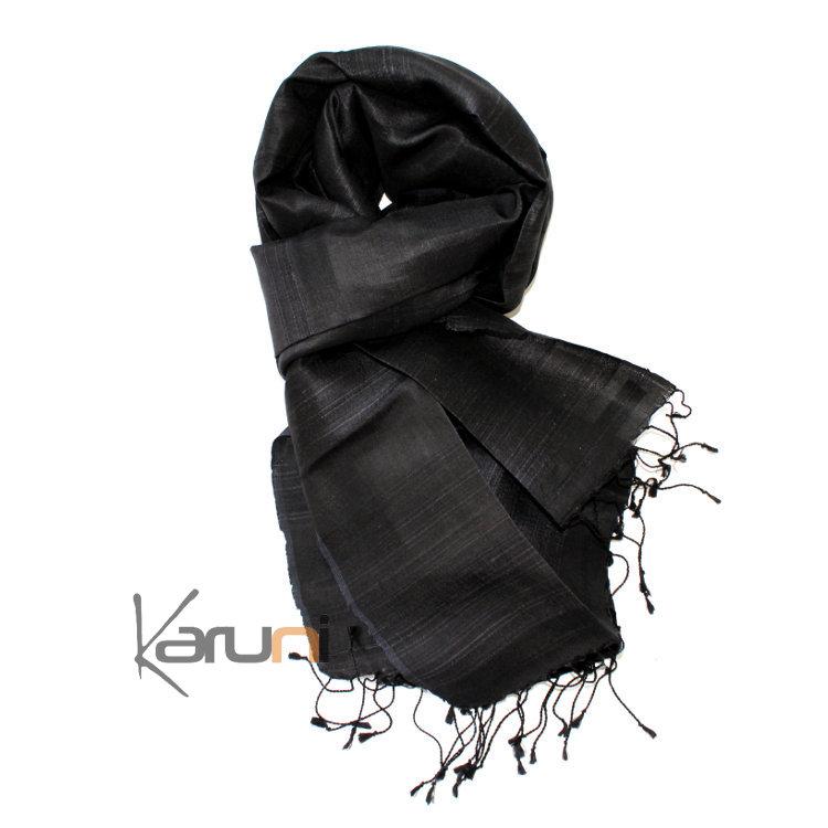 Foulard noir echarpe et bonnet   Zebux de8fba1357e3
