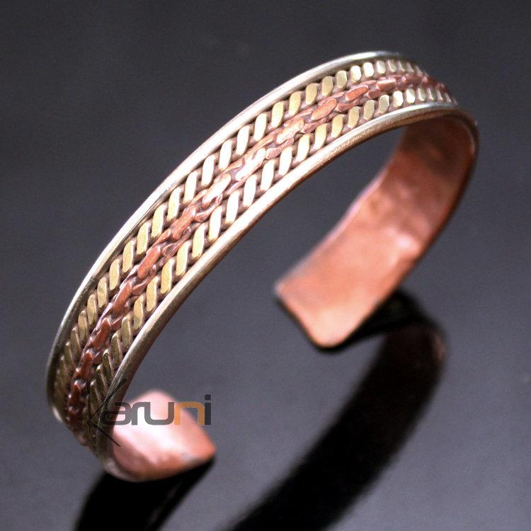 bijoux ethniques indiens bracelet jonc en cuivre laiton argent mix homme femme nepal 10 large tress. Black Bedroom Furniture Sets. Home Design Ideas