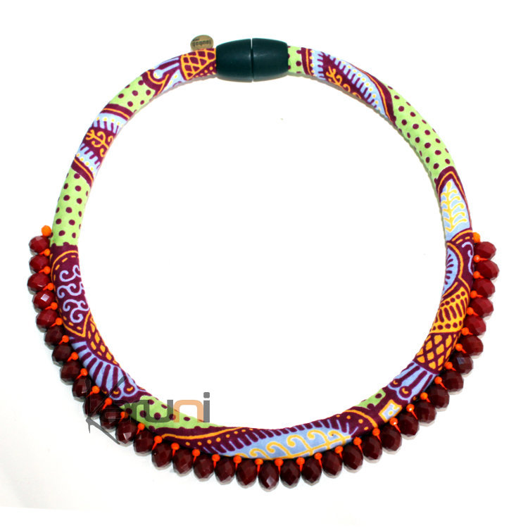 collier wax africain