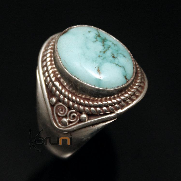 Bijoux Ethnique Argent Turquoise : Bijoux ethniques argent homme
