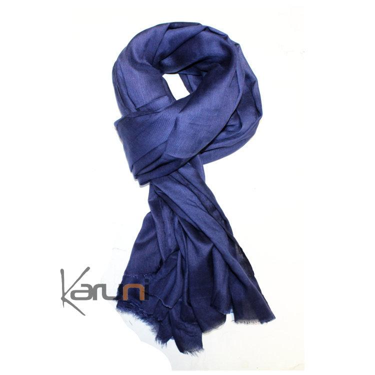 Echarpe bleu homme echarpe laine blanche   Rlobato 3ea909273d0