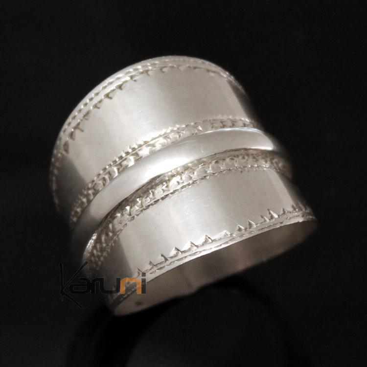 bijoux touareg ethniques bague en argent bandeau lisse homme femme 13 inspiration karuni. Black Bedroom Furniture Sets. Home Design Ideas