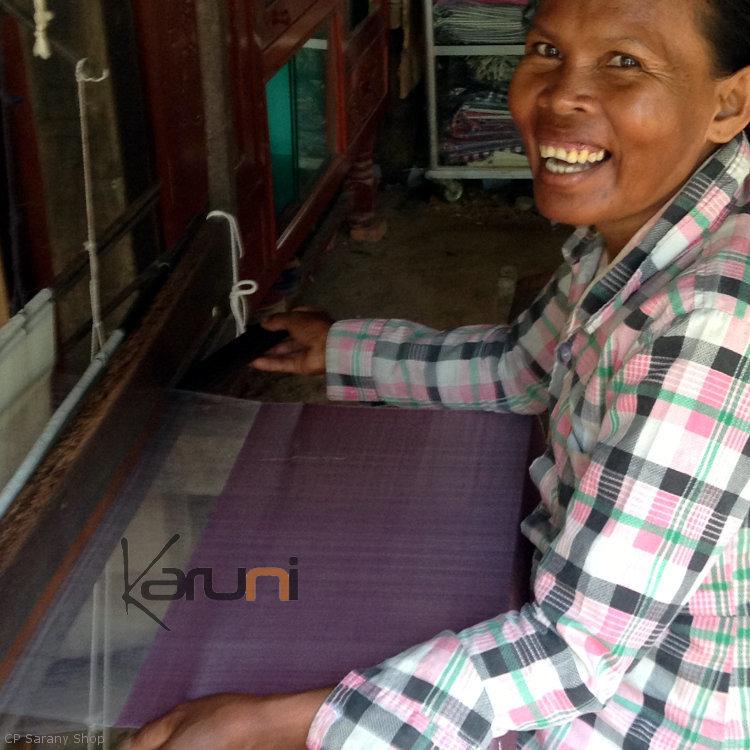 foulard en soie etole mariage echarpe cambodge chenda sarany shop blanche ivoire - Etole Mariage Soie