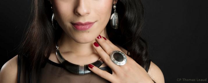 bijoux bois et argent femme