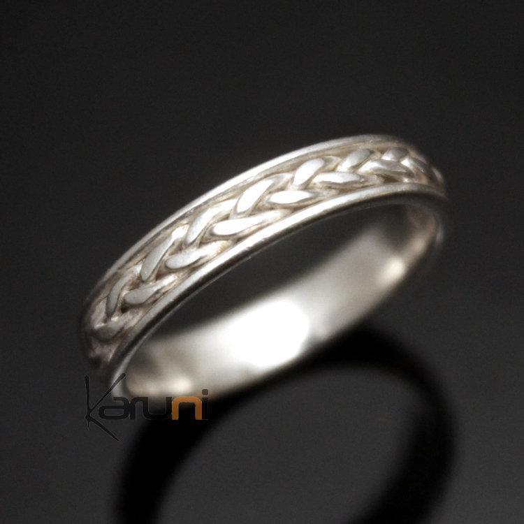 bague anneau alliance en argent fine tresse bijoux ethniques touareg mariage ombre claire. Black Bedroom Furniture Sets. Home Design Ideas