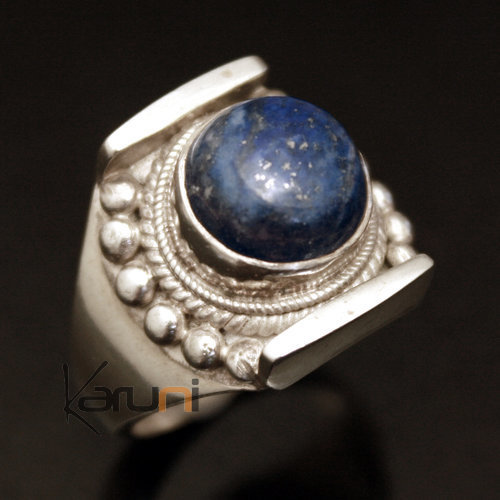 bijoux ethniques indiens bague en argent ovale lapis lazuli n pal newar 15. Black Bedroom Furniture Sets. Home Design Ideas