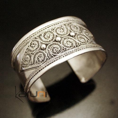 Bijoux Argent Filigrane Malte : Bijoux ethniques indiens bracelet manchette en argent