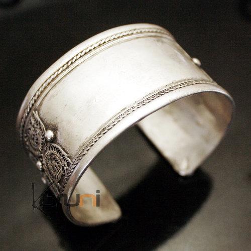 Bijoux Argent Filigrane Malte : Bijoux ethniques indiens bracelet manchette en argent mix