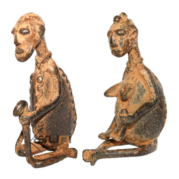 art dogon bronze anc tres couple sculpture africain mali d coration ethnique afrique. Black Bedroom Furniture Sets. Home Design Ideas