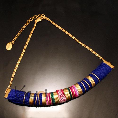 Création Bijoux Fantaisie Tissu : Bijoux ethniques collier fantaisie en tissu bolivie cha?ne