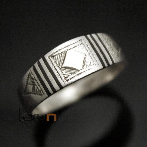 bijoux touareg ethniques bague anneau alliance argent b ne homme femme semi large 04. Black Bedroom Furniture Sets. Home Design Ideas