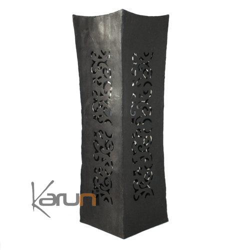 vase design rectangle haut 50 cm lampe luminaire m tal recycl madagascar 2. Black Bedroom Furniture Sets. Home Design Ideas