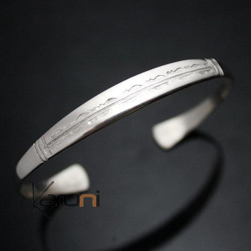 bijoux touareg ethniques bracelet en argent large homme. Black Bedroom Furniture Sets. Home Design Ideas