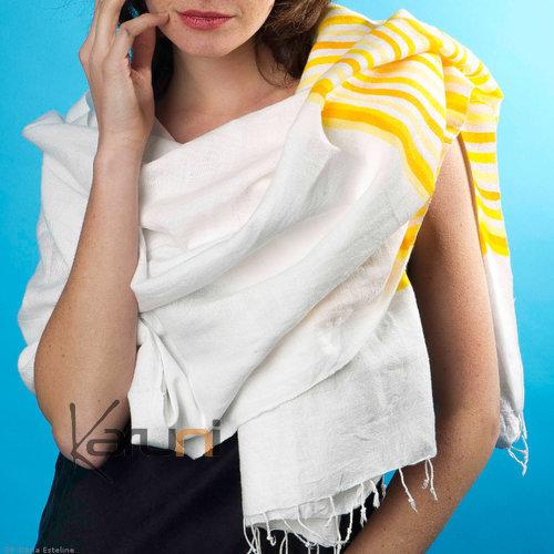 etole fouta ch le foulard en coton tiss d 39 ethiopie sidamo tsahay blanche jaune dana esteline. Black Bedroom Furniture Sets. Home Design Ideas