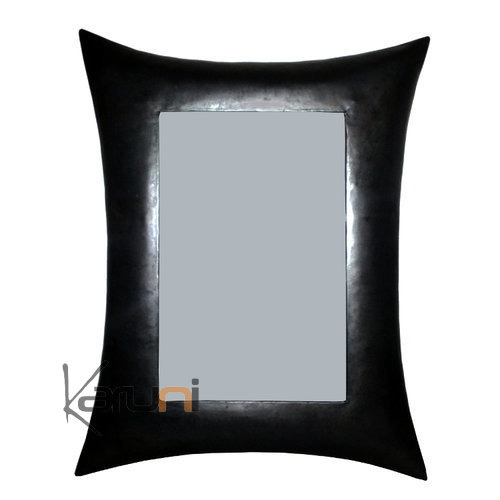 Miroir cadre rectangle bomb m tal recycl madagascar 50 for Miroir 50 cm