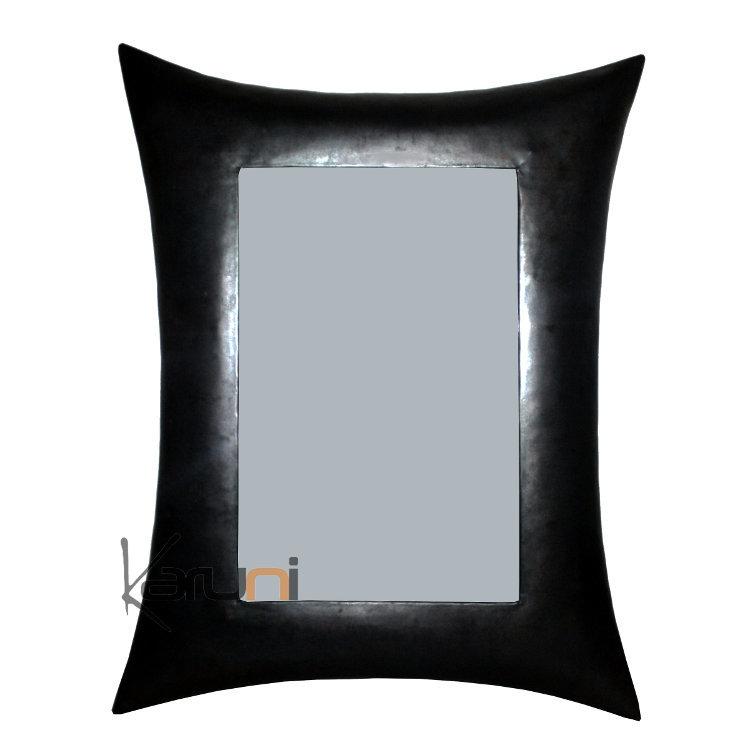 Miroir cadre rectangle bomb m tal recycl madagascar 50 for Miroir cadre metal