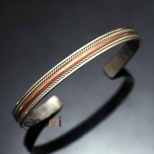 bijoux ethniques indiens bracelet jonc en cuivre bronze homme femme nepal 02 plat tress. Black Bedroom Furniture Sets. Home Design Ideas