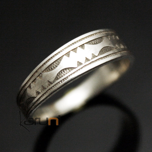 bijoux touareg ethniques argent bague anneau alliance plat grav homme femme 15. Black Bedroom Furniture Sets. Home Design Ideas