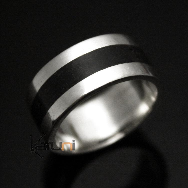 bijoux touareg ethniques bague anneau alliance en argent homme femme bande eb ne 02 large 10 mm. Black Bedroom Furniture Sets. Home Design Ideas
