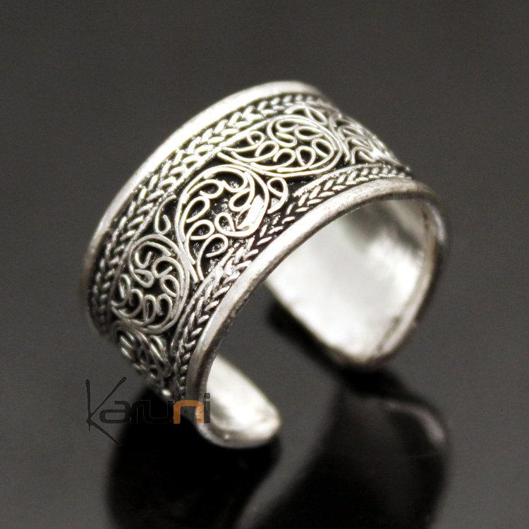 bijoux ethniques indiens bague anneau alliance en plaqu argent homme femme 01 filigranes. Black Bedroom Furniture Sets. Home Design Ideas