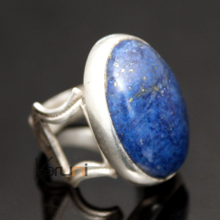 bijoux touareg ethniques africains bague en argent lapis. Black Bedroom Furniture Sets. Home Design Ideas
