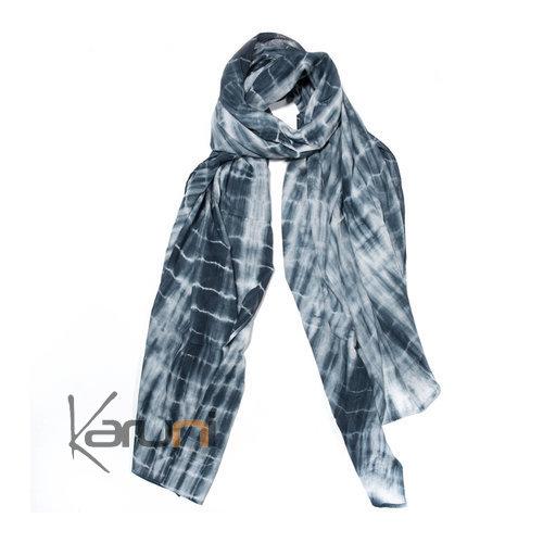 etole cheche echarpe foulard femme tie and dye en coton. Black Bedroom Furniture Sets. Home Design Ideas