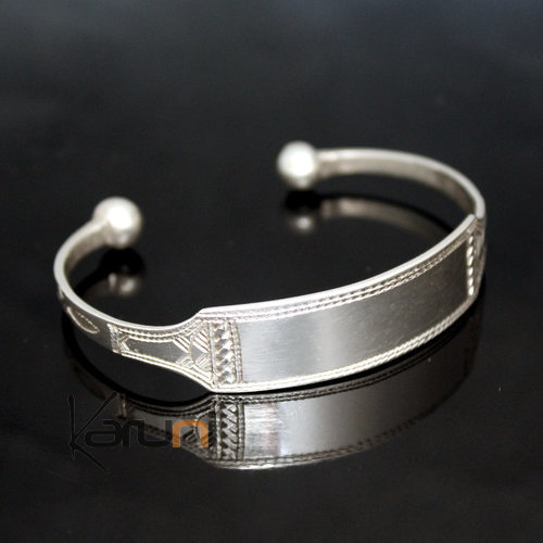 bijoux touareg ethniques bracelet gourmette en argent. Black Bedroom Furniture Sets. Home Design Ideas