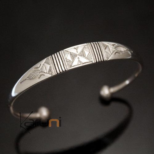 bijoux touareg ethniques bracelet en argent large eb ne homme femme 07. Black Bedroom Furniture Sets. Home Design Ideas