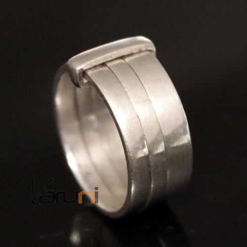 bijoux touareg ethniques bague anneau en argent 3 anneaux homme femme 07 lisse. Black Bedroom Furniture Sets. Home Design Ideas