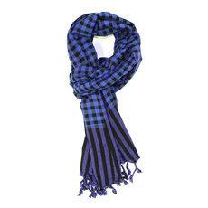 1680694c4b7ef echarpe homme bleu electrique