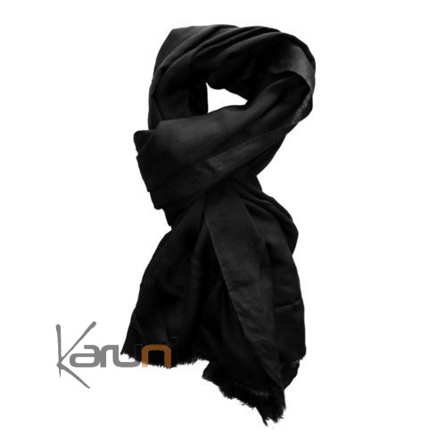 cheche touareg foulard echarpe coton homme femme noir v ritable niger. Black Bedroom Furniture Sets. Home Design Ideas