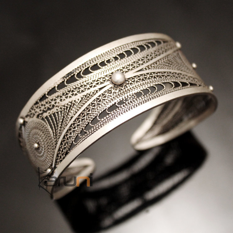 Bijoux Argent Filigrane : Bijoux ethniques orientaux berb?res bracelet en argent