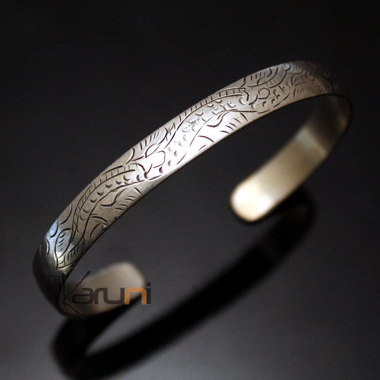 8c8affa4931 Bijoux Ethniques Indiens Bracelet Jonc en Argent Mix Homme Femme Nepal 17  Plat Gravé ...