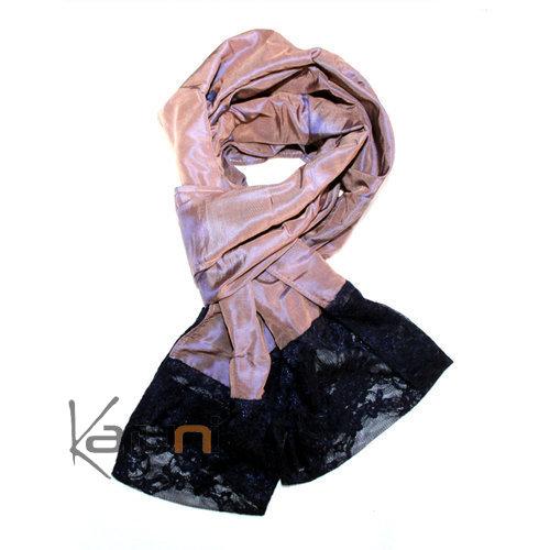 etole cheche echarpe foulard femme en tafettas de soie et. Black Bedroom Furniture Sets. Home Design Ideas