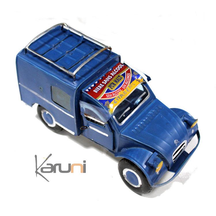 voiture de collection miniature 3 cv citro n canette recycl e m tal 18 cm madagascar. Black Bedroom Furniture Sets. Home Design Ideas