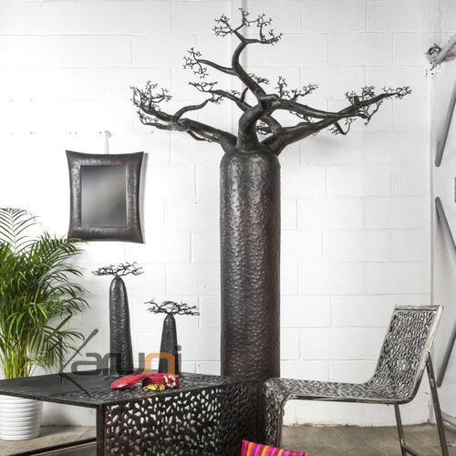 arbre bijoux porte bijoux design d coration baobab droit 180 cm m tal recycl madagascar. Black Bedroom Furniture Sets. Home Design Ideas