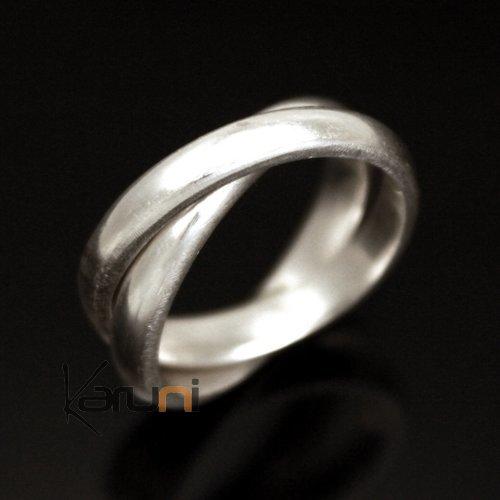 bijoux ethniques touareg bague alliance anneau en argent homme femme 01 double anneau large. Black Bedroom Furniture Sets. Home Design Ideas